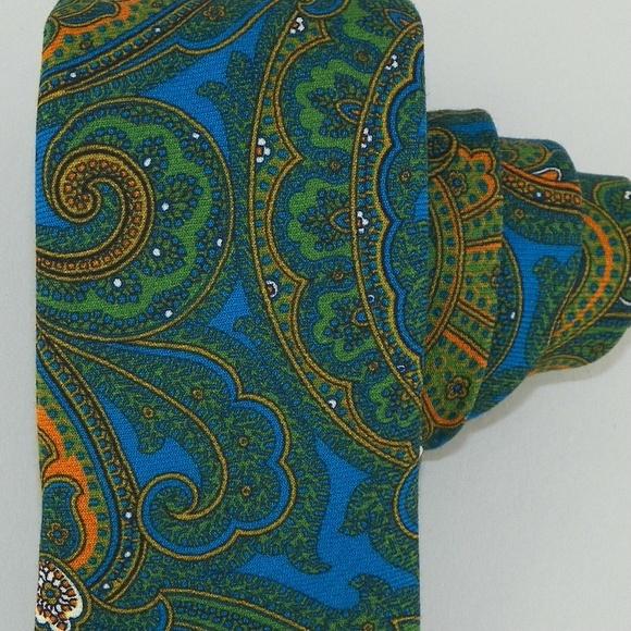6f83f7b8 Ted Baker Accessories | Blue Green Paisley Wool Tie Nwt | Poshmark